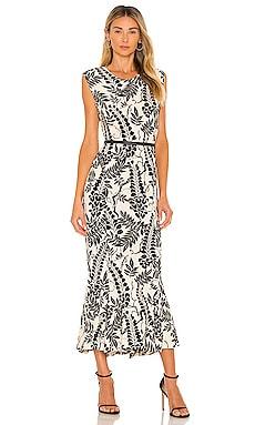 Sleeveless Fishtail Midi Dress Norma Kamali $215 NEW