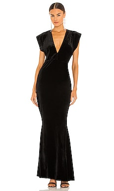 V Neck Rectangle Gown Norma Kamali $195