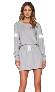 Norma Kamali KAMALIKULTURE Boyfriend Sweat Dress in Heather Grey