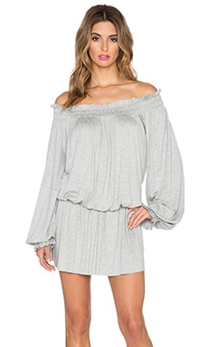 Sweats by Norma Kamali Peasant Dress in Heather Grey