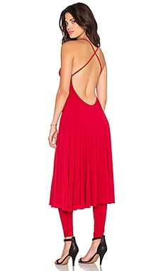 Norma Kamali KAMALI KULTURE Slip Midi Dress in Red