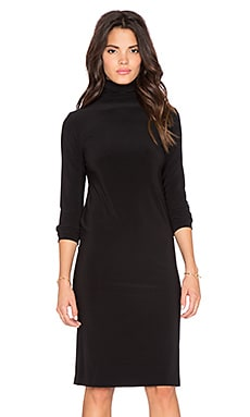 Norma Kamali KAMALI KULTURE Turtleneck Midi Dress in Black