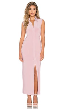 Norma Kamali KAMALIKULTURE Long Shirt Dress in Pink