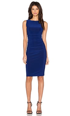 Norma Kamali KAMALIKULTURE Shirred Dress in Blueberry