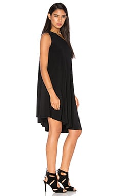 KAMALIKULTURE One Shoulder Swing Dress in Black