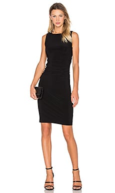 Norma Kamali KAMALIKULTURE Sleeveless Shirred Waist Dress in Black