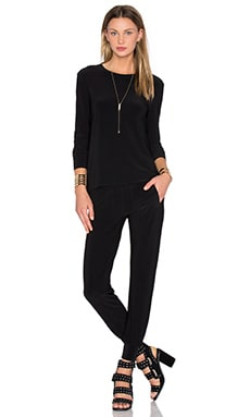 Norma Kamali Go Travel 3 Pack Top, Pant, & Dress in Black