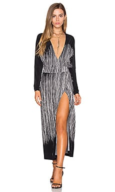 Norma Kamali Dolman Wrap Dress in Fringe