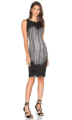 Sleeveless Shirred Waist Dress in Fringe