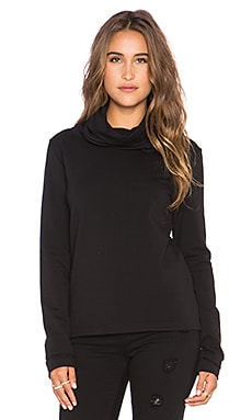 Norma Kamali Sweats by Norma Kamali Oversized Turtleneck Sweater in Black