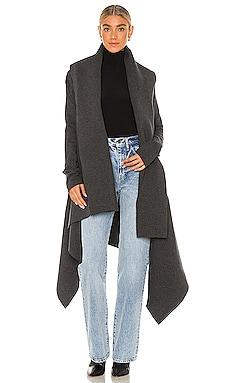 Uneven Blanket Coat Norma Kamali $177