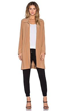 Norma Kamali Men's Trench Coat in Camel