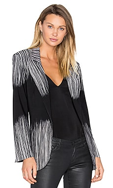 Single Breasted Bonded Jacket in Fringe