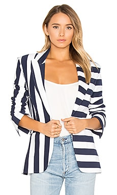 Single Breasted Jacket en Marine & Blanc