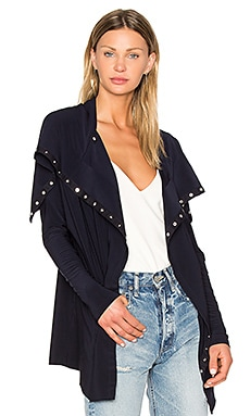 Side Snap Jacket in Midnight