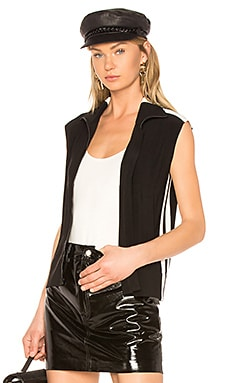 Side Stripe Sleeveless Jacket Norma Kamali $175