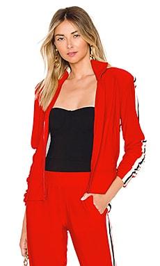 Купить Куртку side stripe turtle - Norma Kamali красного цвета