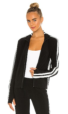 Side Stripe Turtle Jacket Norma Kamali $205