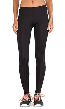 Active by Norma Kamali Diagonal Mesh Insert Legging in Black