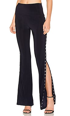 Side Snap Boot Pant in Midnight