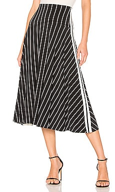 Side Stripe Flared Skirt Norma Kamali $185