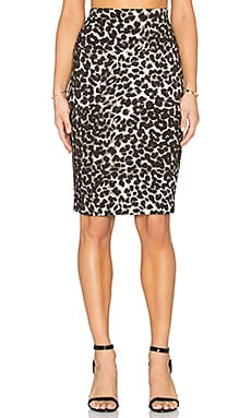 Norma Kamali Pencil Skirt in Cheetah