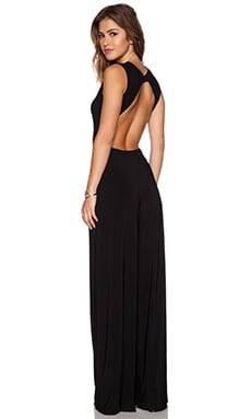 Norma Kamali KAMALIKULTURE Open Back Jumpsuit in Black