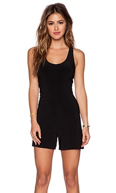 Norma Kamali KAMALIKULTURE Cross Back Romper in Black