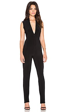 Norma Kamali KAMALI KULTURE Turtleneck Jumpsuit in Black