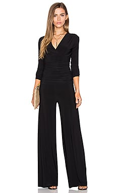 Norma Kamali Shirred Waist Jumpsuit in Black