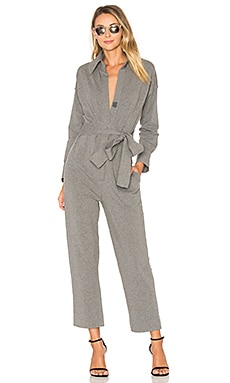 Tapered Crop Jumpsuit in Medium Heather Grey