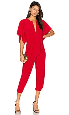 Rectangle Jog Jumpsuit in Red