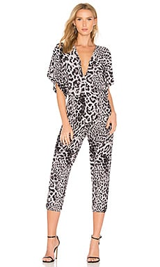 Rectangle Jog Jumpsuit in Grey Leopard