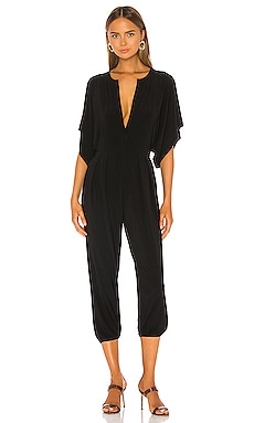 Norma Kamali KAMALIKULTURE Rectangle Jog Jumpsuit in Black