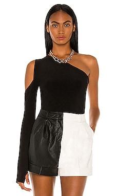 One Shoulder One Sleeve Top Norma Kamali $105 BEST SELLER