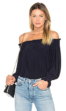 Peasant Top in Midnight