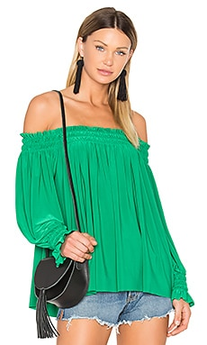 Peasant Top in Kelly Green