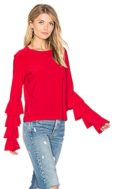 x REVOLVE Ruffle Tee in Red
