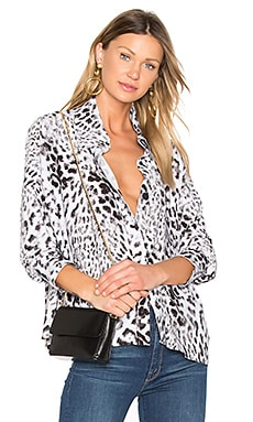 Box Shirt in White Leopard