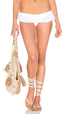 Ruffled Bikini Bottom in White