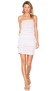 Shirred Dress & Skirt in White Mesh