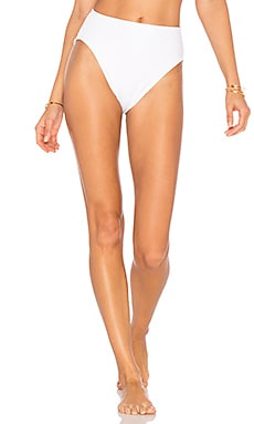 Underwire High Waist Bikini Bottom in White