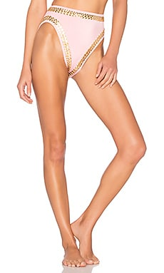 X REVOLVE Stud Bikini Bottom in Pink & Gold