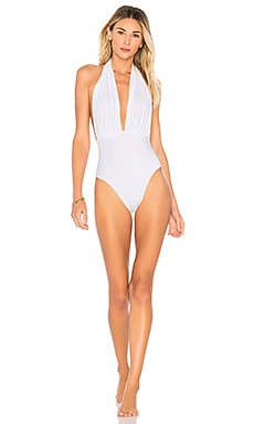 x REVOLVE Shane One Piece in Metallic Silver. - size XS (also in L,M,S) Norma Kamali