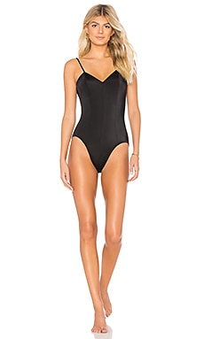Norma Kamali KAMALIKULTURE Wonderwoman One Piece in Black