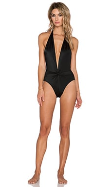 Norma Kamali Twister Swimsuit in Black