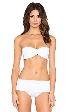 Norma Kamali Johnny D Bikini Top in White