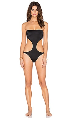 Norma Kamali Strapless Jorge Swimsuit in Black