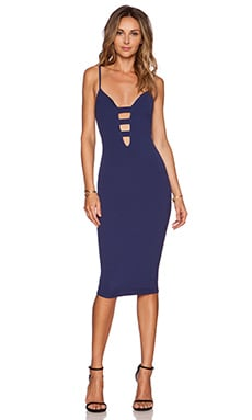 Nookie Naomi Bodycon Dress in Navy