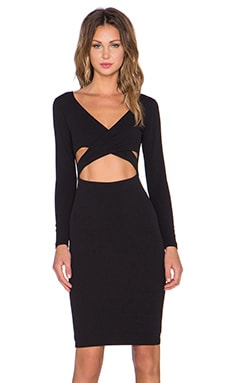 Nookie Bombshell Wrap Dress in Black